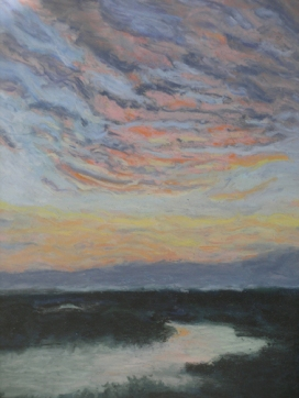 Pastel by Eileen Leahy: On the Banks of the Ohio. Honorable Mention, Capitol Hill Arts Workshop Student Show, Spring 2013