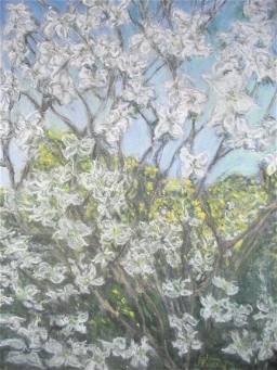 Pastel by Eileen Leahy: Springtime at the Farm. Honorable Mention, Capitol Hill Arts workshop Student show, Spring 2012.