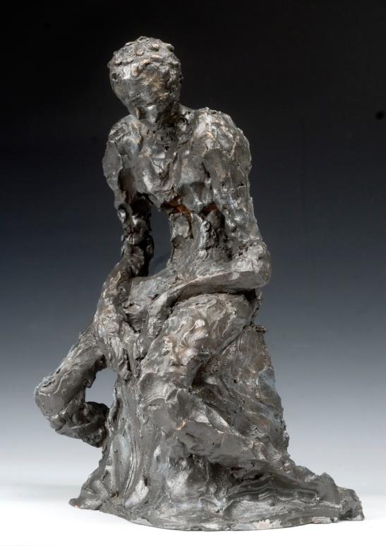 "Sculpture by Eileen Leahy: ""A Broken Man."" Equal Merit Award, Capitol Hill Arts League All-Media Show, September 2010."