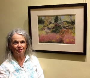 Eileen Leahy with her pastel,