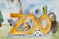New zoo watercolor that is now in the book.