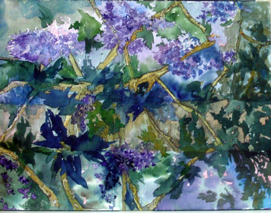"Linda Norton: ""Overgrown,"" watercolor"