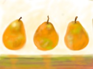 Marta Pope: Pears sketch, iPastel app on iPad