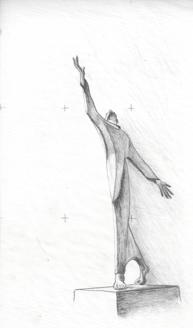 "Vince Iannacchione: ""Francis,"" pencil"