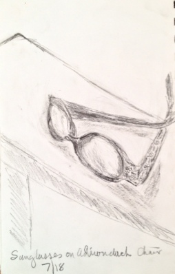 Eileen Leahy: Sunglasses, pencil.