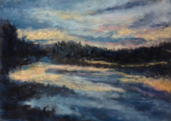 eileen-pastel-on-board-%22summer-reflections-%22