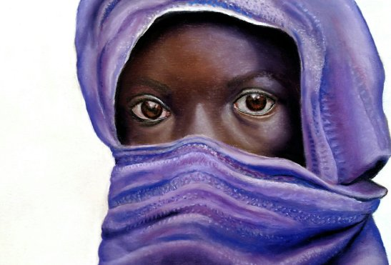 Fran Tomlinson Refugee Pastel