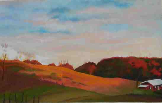 Linda Andreatta Black Ankle Vineyard #2 Chalk Pastel