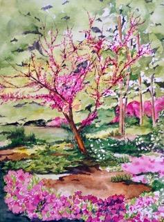Tara Hamilton Arboretum Tiime Watercolor