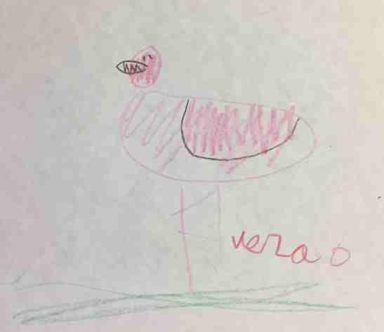 Vera Armstrong age 6 flamingo