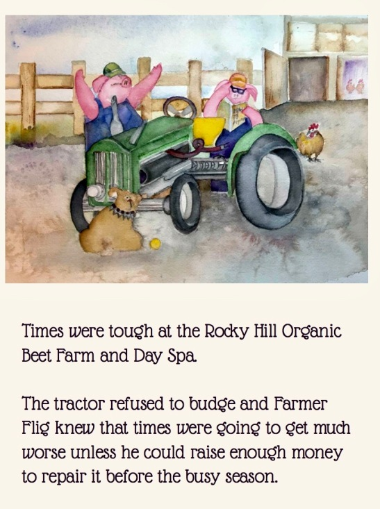 tractor with text