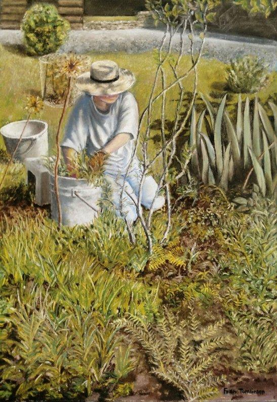 Fran Tomlinson Weeding Pastel