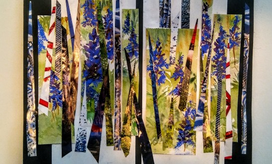 Linda Norton Lupine Meadow Mixed Media Collage