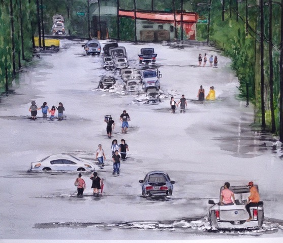 Houston Flood Waters