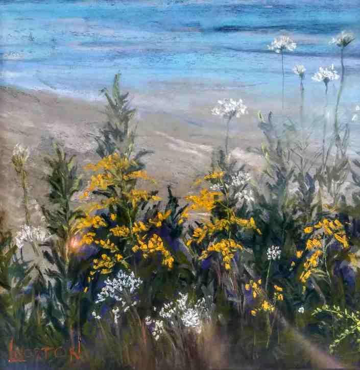 Linda Norton At Water's Edge Soft Pastel on Board