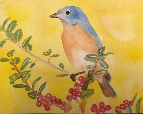 RondthalerBLUEBIRDWatercolor