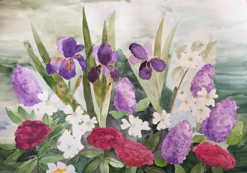 Marian Wiseman 2018 05 Floral study #2