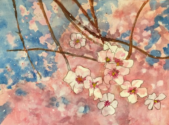 2018.05.08 CHERRY BLOSSOMS mixed media