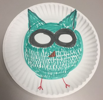 Andrew Armstrong: Owl#1. Whiteboard marker and indelible marker.