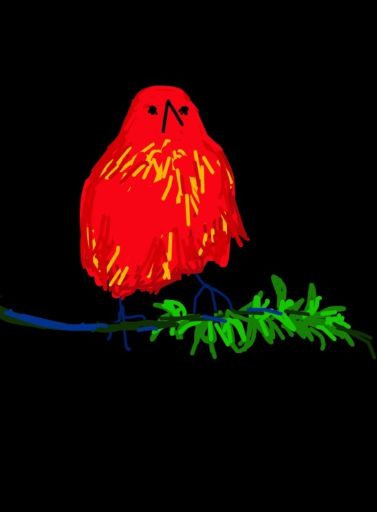 Tara Hamilton Little Red Guy.iPad
