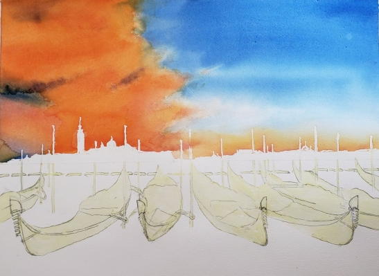 Wan Lee Venice with sky poured