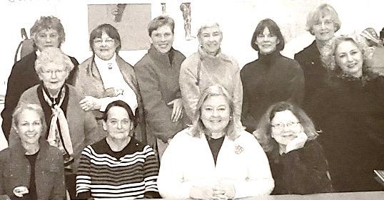 Gina's class, 2008. Back row: Judith Davis, Becky Apple, Lynne Schlmm, Cissy Webb, Martha Pope, Anne Shields. Middle row:Virginia Bradley, Irene Zarechnak. Seated: Amy, Sylvia Maria Moraes, Linda Norton, Gina Clapp.